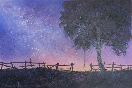 Gateway to the Milky Way. 40 x 60cm oil on canvas by Wayne Clements. Episode 14 Luv 2 Paint. Unframed $695.00 Framed $875.00
