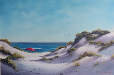 South Straddy Dunes. Luv 2 Paint Episode 22. 40 x 60cm oil on canvas by Wayne Clements. Unframed $645.00 Framed $825.00