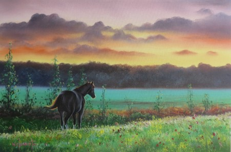 Outstanding. Luv 2 Paint Episode 24. 40 x 60cm oil on canvas by Wayne Clements. Unframed $695.00 Framed $875.00