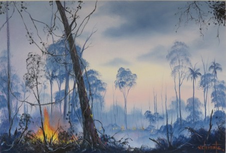 Natures Way. 40 x 60cm oil on canvas by Wayne Clements. Unframed $695.00 Framed $875.00