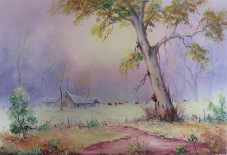 On The Farm Luv 2 Paint Ep 33 & 34. 40 x 60cm oil on canvas by Wayne Clements. Unframed $695.00 Framed $875.00