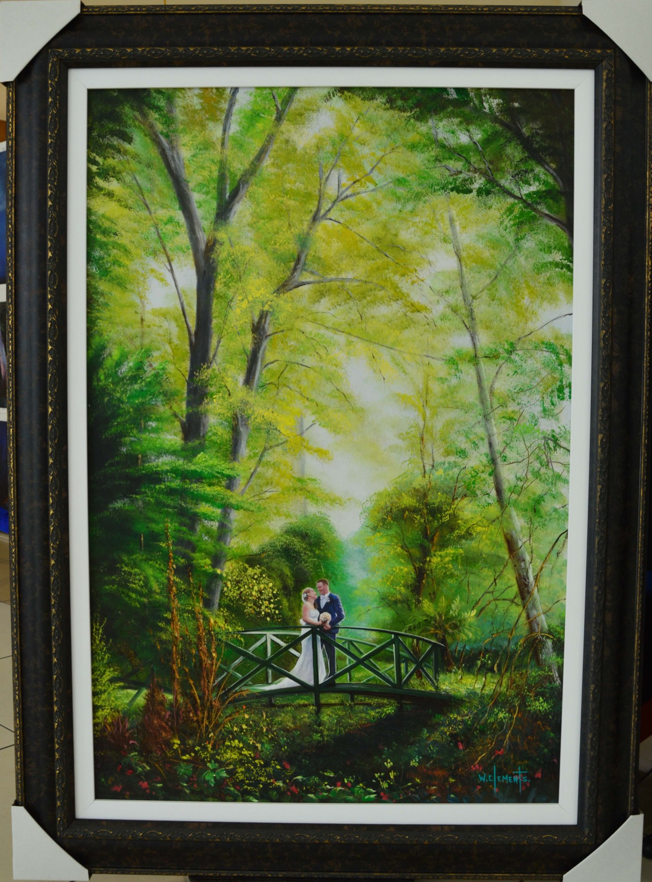 Wedding Portrait Commissioned Oil Painting