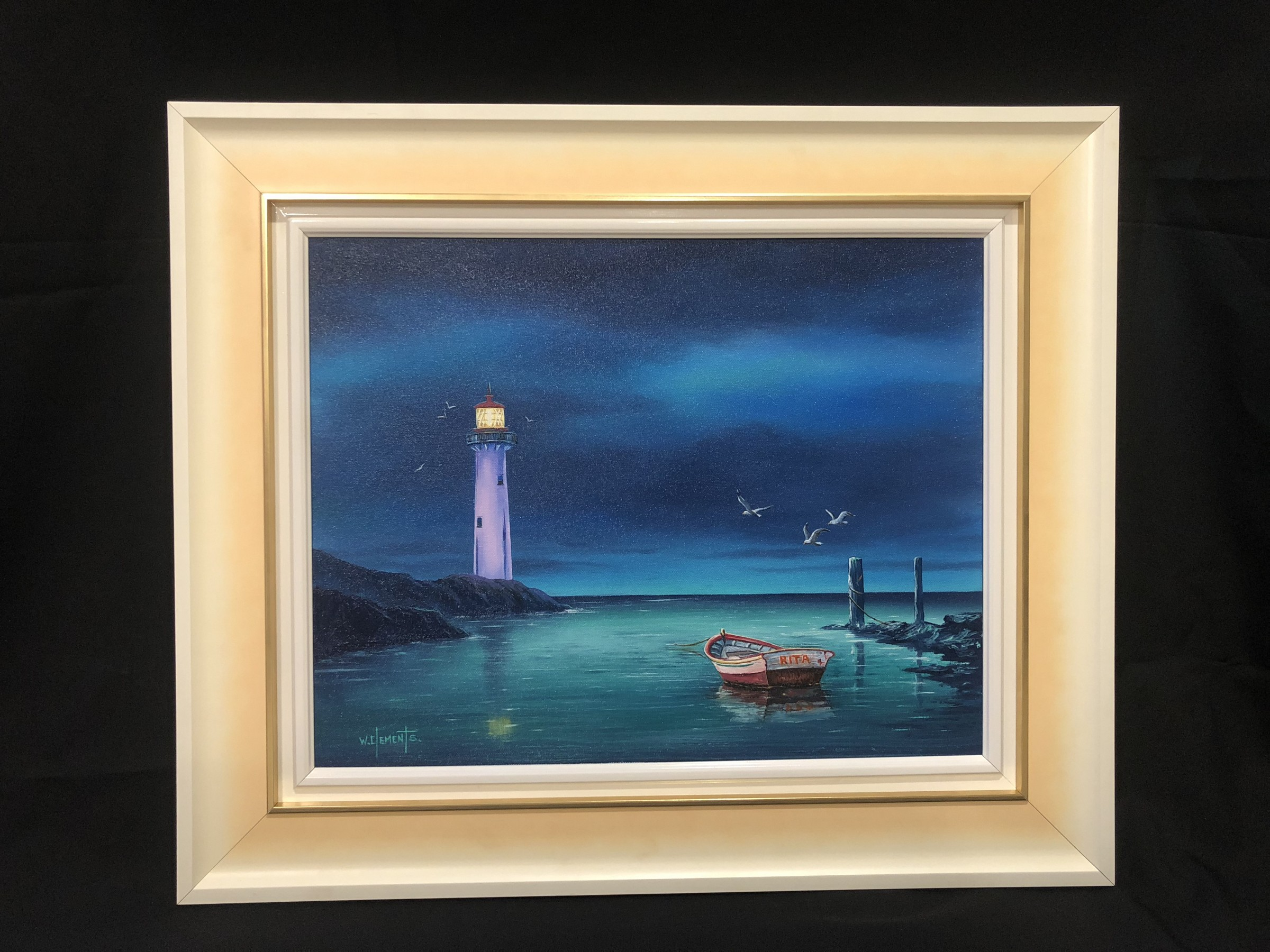 Commissioned Lighthouse Oil Painting